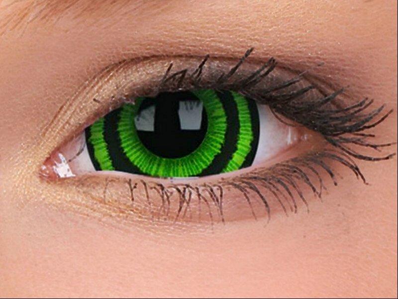 6337dcd949d Siin on erinevate rohelise tooni (karneval ja värv) kontaktläätsed, mis  sobivad paremini osapooltele kui igapäevaseks kandmiseks.